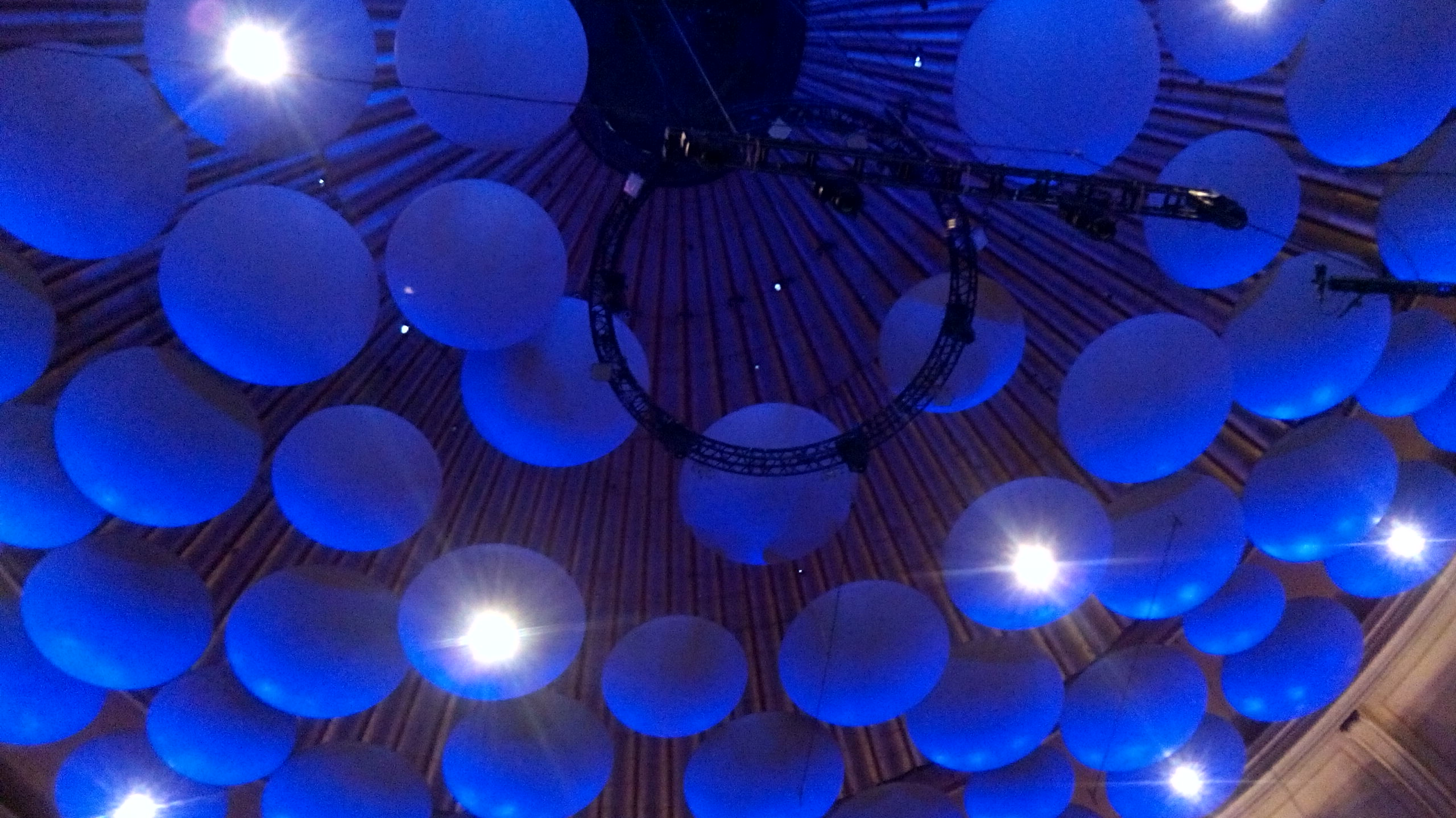 Acoustic diffusers in the Royal Albert Hall