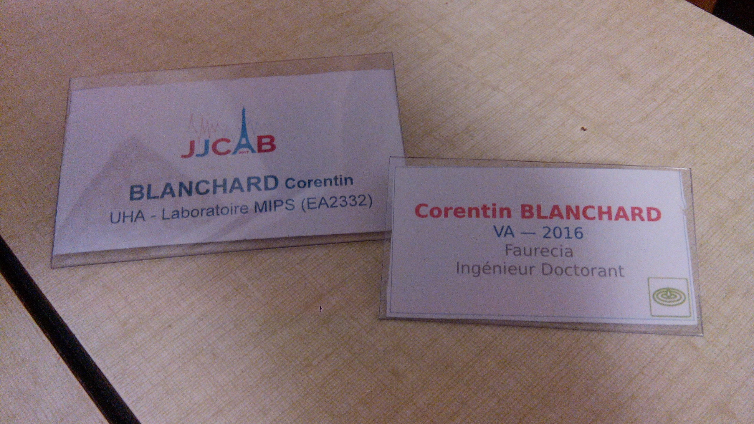 badges from JJCAB and ENSIM's alumni day
